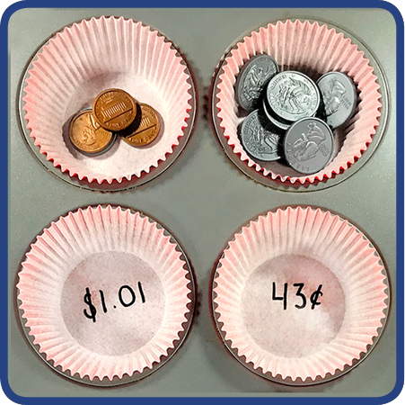 Count Coins with Cupcake Liners!