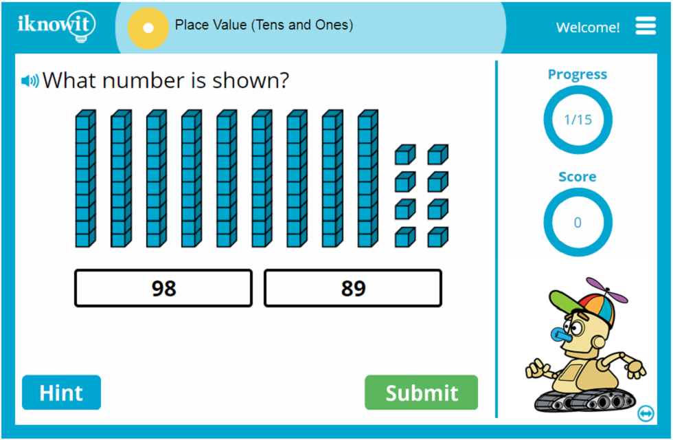 1st Grade Place Value Game