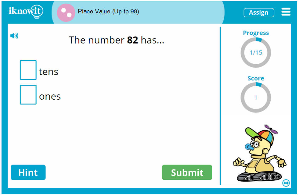 Second Grade Place Value to 99 Education Activity