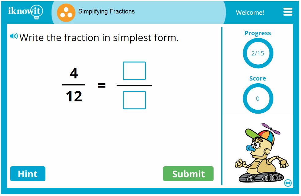 3rd Grade Simplifying Fractions Activity