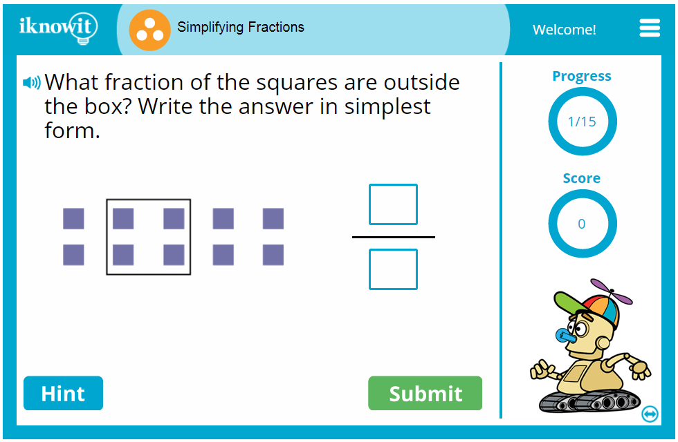 3rd Grade Simplifying Fractions Game