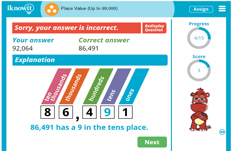 3rd Grade Place Value Practice up to 99,999 Activity
