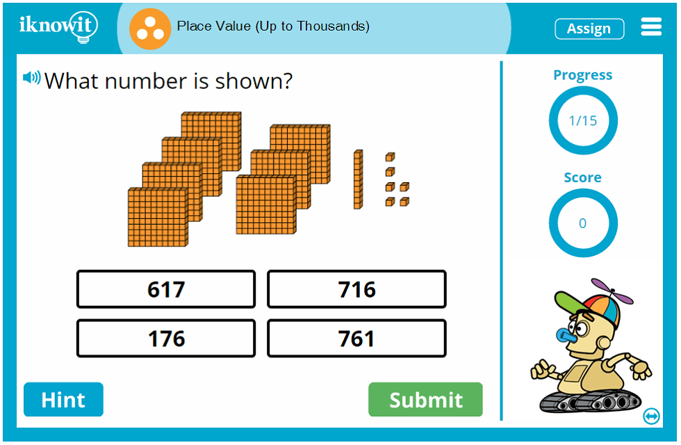 3rd Grade Place Value Thousands Game
