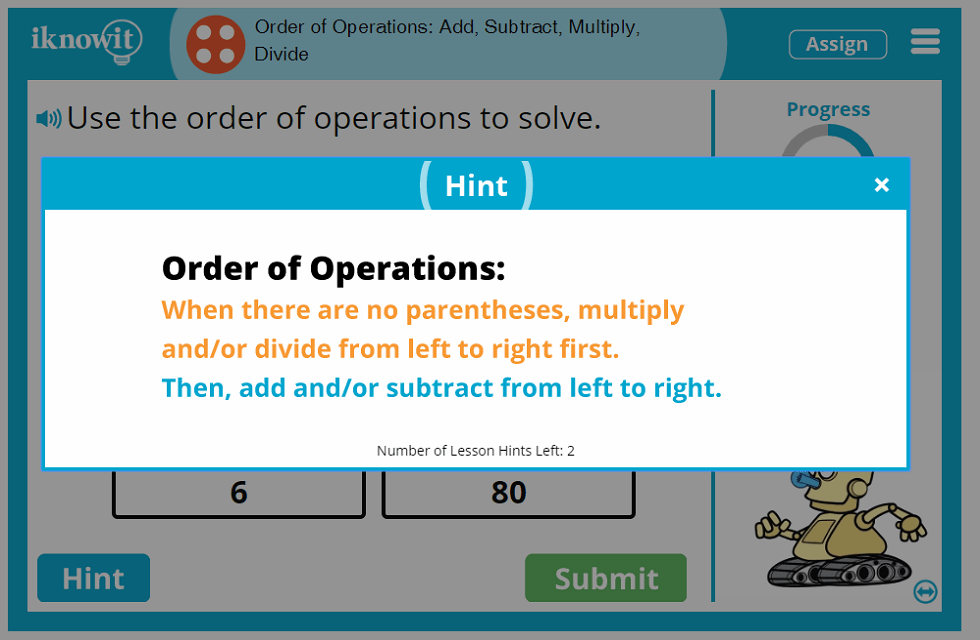 4th Grade Order of Operations Add Subtract Multiply Divide Lesson
