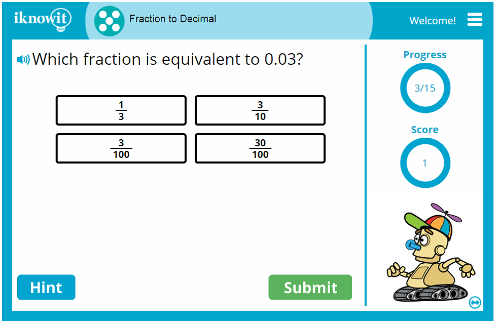 Fifth Grade Changing Fractions to Decimals Activity