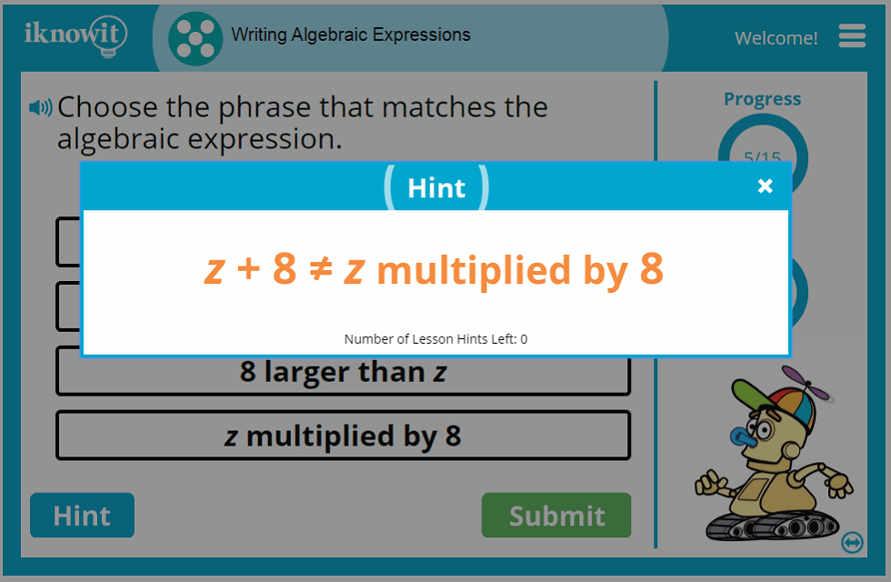 Writing Algebraic Expressions Lesson