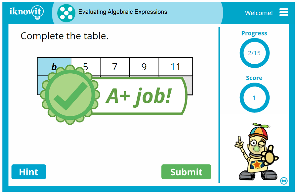 Solving Algebraic Expressions Activity
