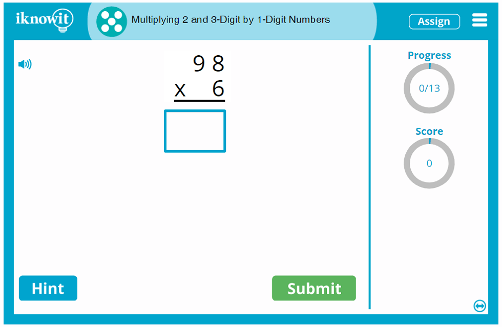 5th Grade Multiplying 2-and-3 Digit Numbers by 1 Digit Numbers 5th Grade Game
