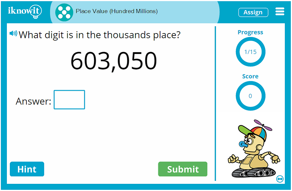 5th Grade Place Value Hundred Millions Game