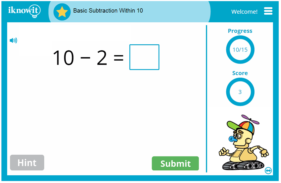 Kindergarten Subtracting Within 10 Lesson