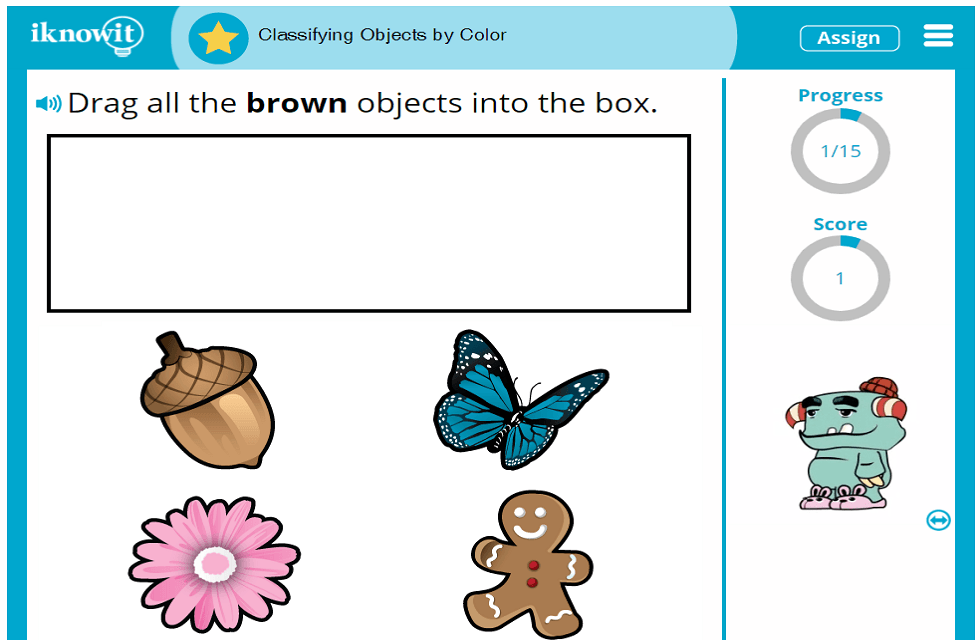 Kindergarten Sort and Group Objects by Color Activity